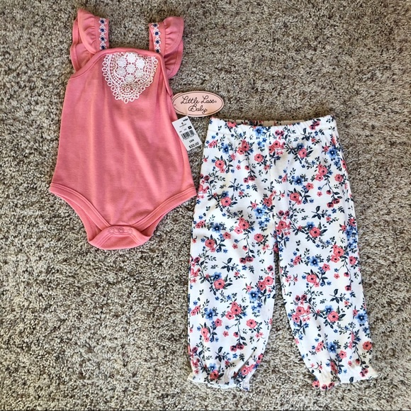 NWT - LITTLE LASS - 18 Month Girl Matching Outfit